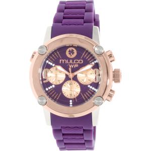 Mulco Women's MW2-28049-056 Purple Silicone Swiss Multifunction Watch