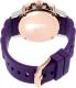 Mulco Women's MW2-28049-056 Purple Silicone Swiss Multifunction Watch - Back Image Swatch