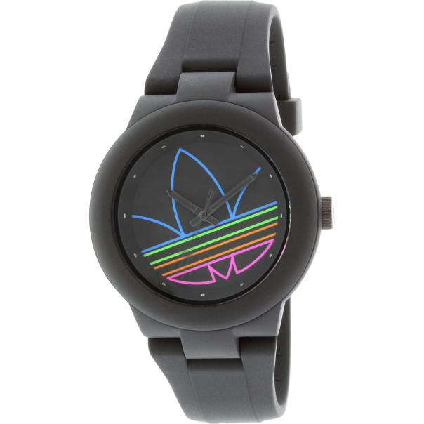 adidas s aberdeen adh3014 black silicone quartz