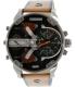 Diesel Men's Mr. Daddy DZ7332 Brown Leather Quartz Watch - Main Image Swatch
