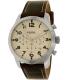 Fossil Men's FS5146 Silver Leather Quartz Watch - Main Image Swatch