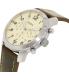 Fossil Men's FS5146 Silver Leather Quartz Watch - Side Image Swatch