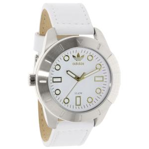 Adidas Men's ADH3055 White Leather Quartz Watch