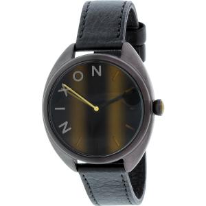 Nixon Women's Wit A3181073 Black Leather Quartz Watch