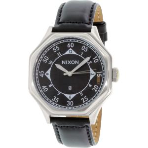 Nixon Men's Falcon A196000 Black Leather Quartz Watch