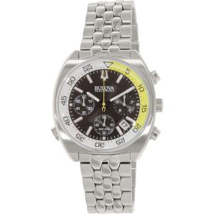 Bulova Men's 96B237 Silver Stainless-Steel Analog Quartz Watch
