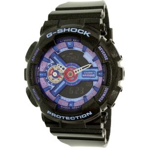 Casio Women's G- Shock GMAS110HC-1A Black Plastic Quartz Watch