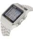 Casio Men's A500WEA-1 Silver Stainless-Steel Quartz Watch - Side Image Swatch