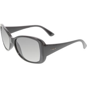 Vogue Women's Gradient  VO2843S-W44/11-56 Black Butterfly Sunglasses
