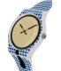 Swatch Women's Originals SUOW118 Blue Silicone Swiss Quartz Watch - Side Image Swatch