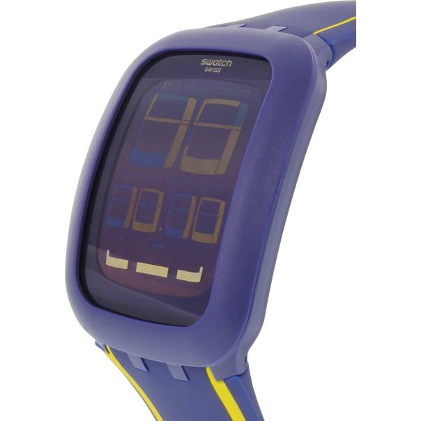 swatch s digital surn106 blue silicone quartz