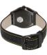 Swatch Men's Irony YWB100 Black Leather Swiss Quartz Watch - Back Image Swatch