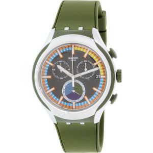 Swatch Men's Irony YYS4009 Green Silicone Swiss Quartz Watch