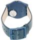 Swatch Women's Originals GN719 Blue Leather Swiss Quartz Watch - Back Image Swatch