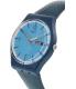 Swatch Women's Originals GN719 Blue Leather Swiss Quartz Watch - Side Image Swatch