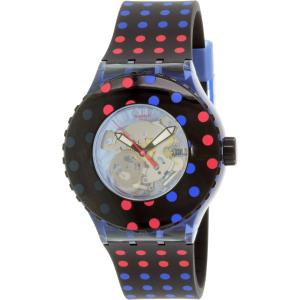 Swatch Women's Originals SUUN100 Multicolor Rubber Quartz Watch