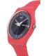 Swatch Women's Originals SUOP702 Pink Silicone Swiss Quartz Watch - Side Image Swatch