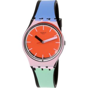 Swatch Women's Originals GB286 Red Silicone Swiss Quartz Watch
