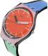 Swatch Women's Originals GB286 Red Silicone Swiss Quartz Watch - Side Image Swatch