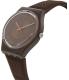 Swatch Women's Originals GC114 Brown Silicone Swiss Quartz Watch - Side Image Swatch