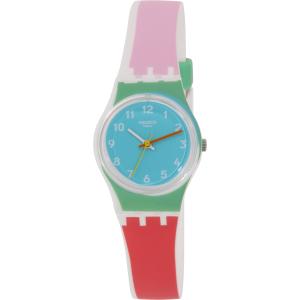 Swatch Women's Originals LW146 White Silicone Swiss Quartz Watch