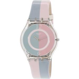 Swatch Women's Skin SFK398 Multi Leather Swiss Quartz Watch