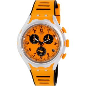 Swatch Men's Irony YYS4010 Orange Silicone Swiss Quartz Watch