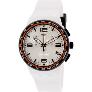 Swatch Men's Originals SUSW405 White Silicone Swiss Quartz Watch