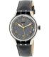 Swatch Men's Irony YES4007 Grey Leather Quartz Watch - Main Image Swatch