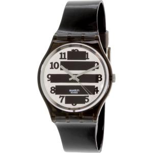 Swatch Women's Originals GM164 Black Rubber Swiss Quartz Watch