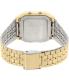 Casio Men's A500WGA-1 Gold Metal Quartz Watch - Back Image Swatch