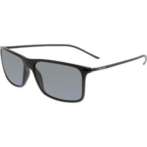 Giorgio Armani Men's Polarized  AR8034-504281-57 Black Rectangle Sunglasses