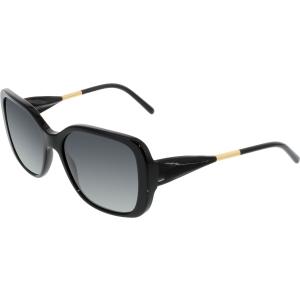 Burberry Women's Gradient  BE4192-3001T3-56 Black Round Sunglasses