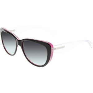 Dolce & Gabbana Women's Gradient  DG4221-27948G-55 Black Round Sunglasses