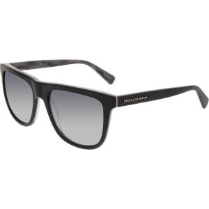 Dolce & Gabbana Men's Polarized  DG4229-2803T3-55 Black Square Sunglasses