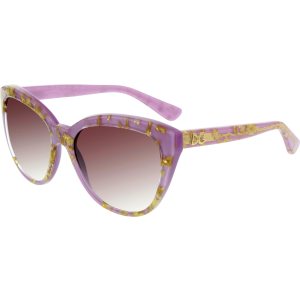 Dolce & Gabbana Women's Gradient  DG4250-29198H-56 Purple Round Sunglasses