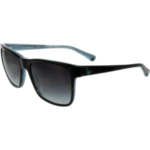 Emporio Armani Men's Gradient  EA4002-50528G-55 Black Square Sunglasses