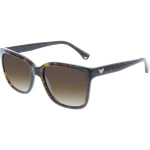Emporio Armani Women's Gradient  EA4042-502613-55 Tortoiseshell Square Sunglasses