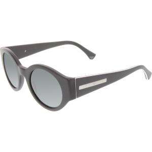 Emporio Armani Men's  EA4044-536487-47 Black Round Sunglasses