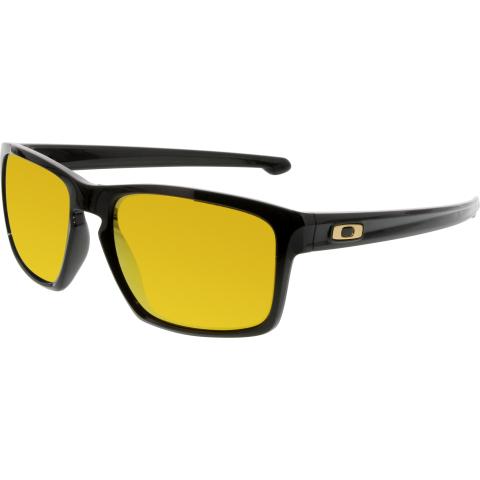 Oakley Women's Mirrored Sliver OO9262-05 Black Rectangle Sunglasses