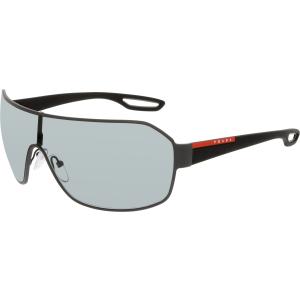Prada Men's  PS52QS-TIG3C2-37 Grey Shield Sunglasses