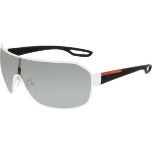 Prada Men's  PS52QS-TWK7W1-37 White Shield Sunglasses