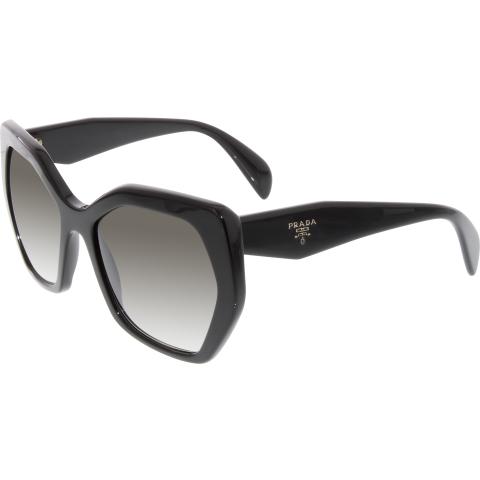 Prada Women's Gradient PR16RS-1AB0A7-56 Black Round Sunglasses