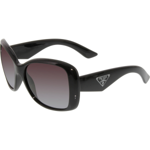 Prada Women's Polarized  PR32PS-1AB2A0-57 Black Butterfly Sunglasses