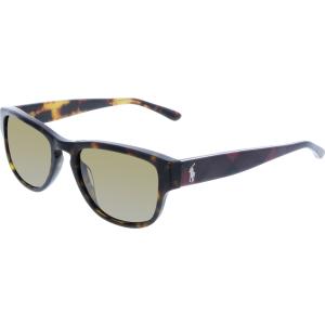 Polo Women's Polarized  PH4086-551983-54 Tortoiseshell Square Sunglasses