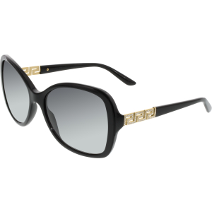 Versace Women's  VE4271B-GB1/8G-58 Black Cat Eye Sunglasses