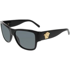 Versace Women's  VE4275-GB1/87-58 Black Square Sunglasses