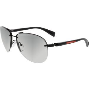Prada Men's Gradient  PS56MS-1BO3M1-62 Black Semi-Rimless Sunglasses