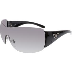 Prada Women's Gradient  PR22MS-1AB3M1-35 Black Shield Sunglasses