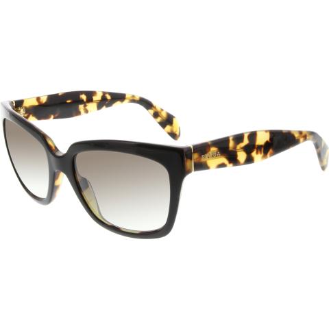 Prada Women's Gradient PR07PS-NAI0A7-56 Black Square Sunglasses